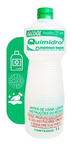 Álcool Líquido Hospitalar Bactericida Limpeza 70 Inpm 1l