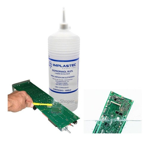 Alcool Isopropylico Puro 99,8% IMPLASTEC Limpador De Uso Geral