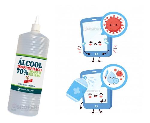 Alcool Isopropilico 70% - P/ Desinfecção E Descontaminação, Assepsia e etc... 1lt