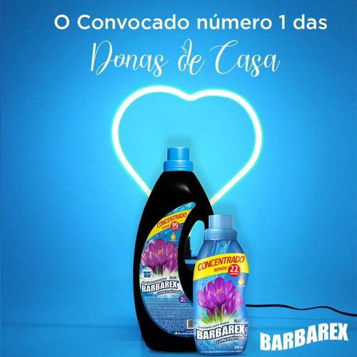 Amaciante Concentrado Blue Barbarex 500ml Rende 22 Lavagens