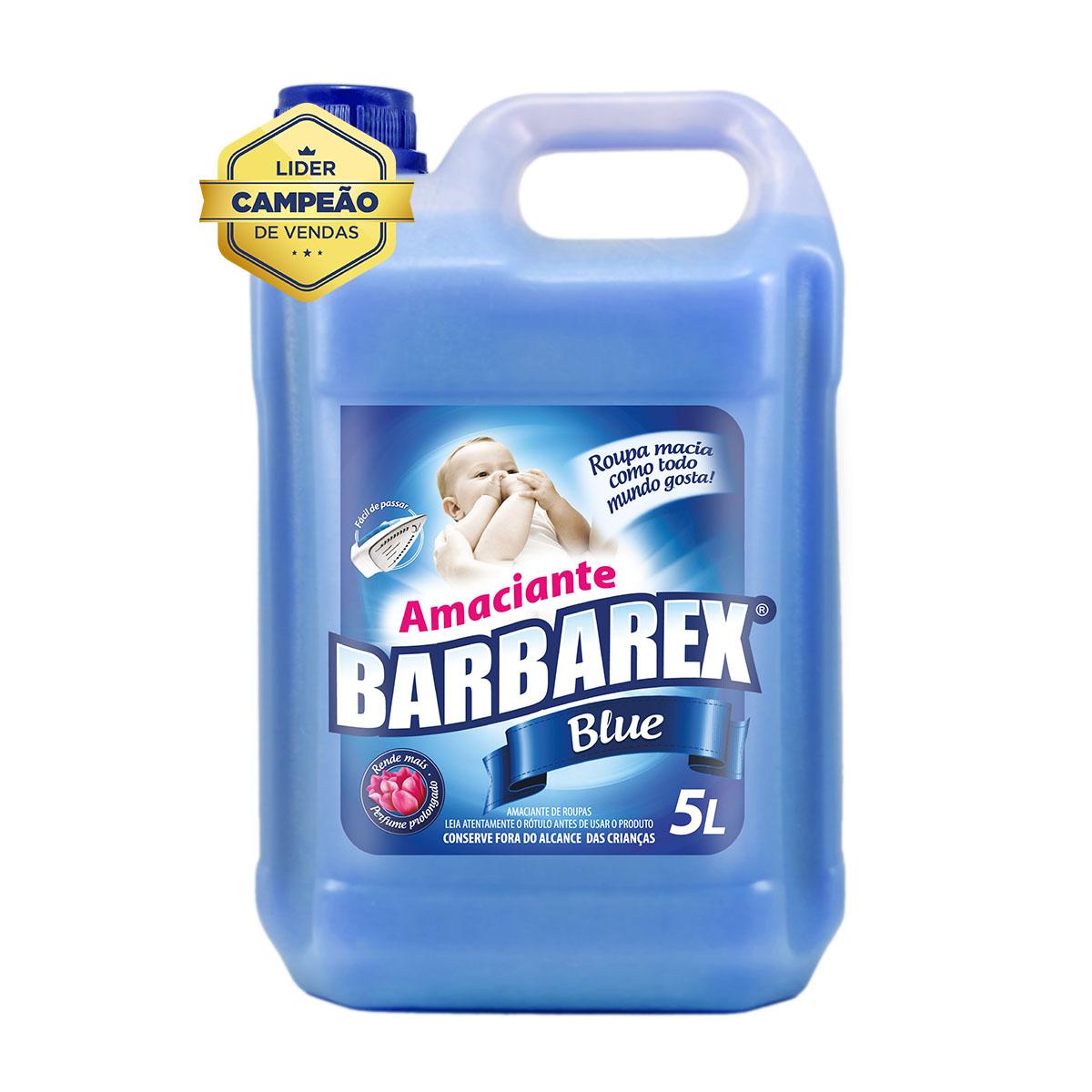 Amaciante de Roupas Blue Barbarex 5 Litros