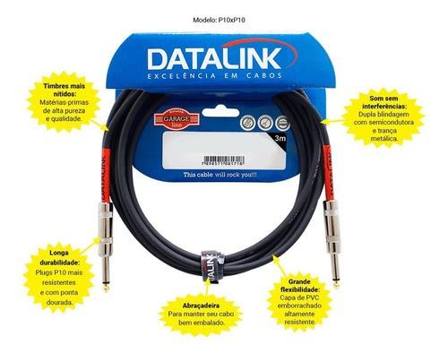 Cabo Datalink Garage Instrumentos P10 / P10 Gi008 5m Profiss