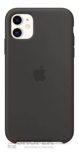 Capa Capinha iPhone 11 Pro Aveludada Com Logo + Película