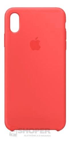 Capa Capinha iPhone XR Com Logo Aveludada + Película