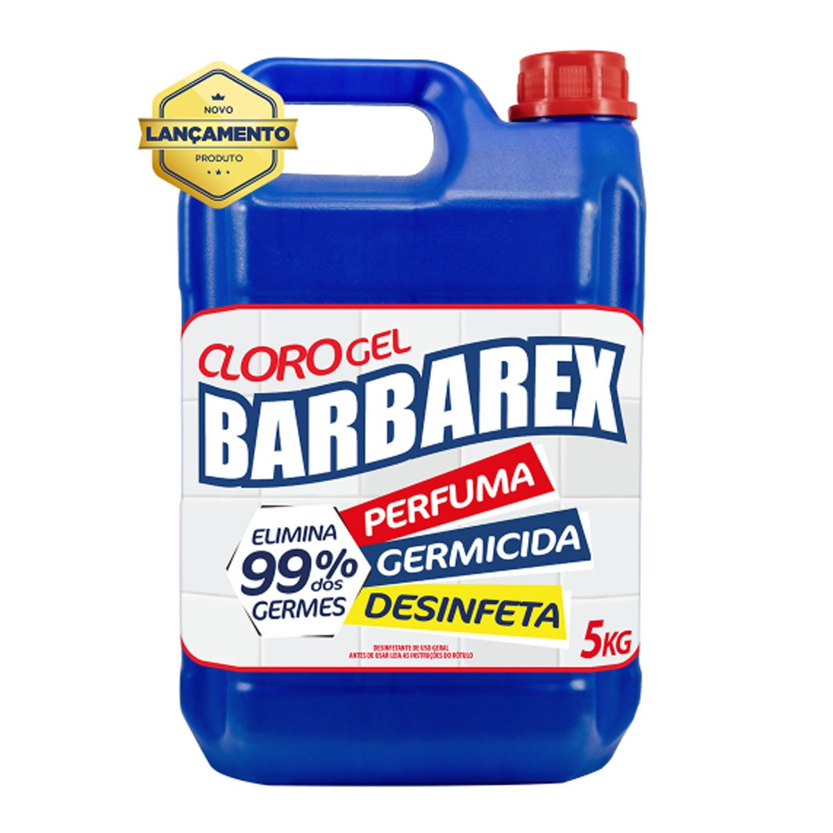 Cloro Desinfetante Gel Barbarex 5 Kg