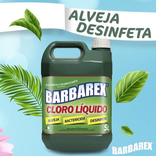 Cloro Desinfetante Líquido Galão Com 5 Litros - Barbarex
