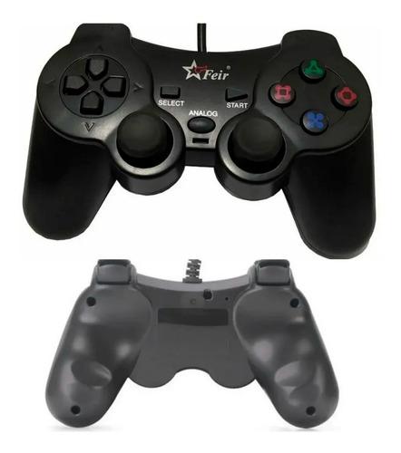 Controle Joystick Analógico Ps2 Usb Para Vídeo Game Retro