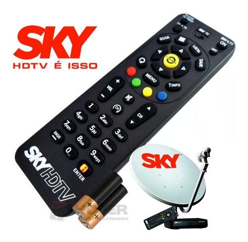 Controle Remoto Receptor Sky Hdtv Zapper Rc65sb