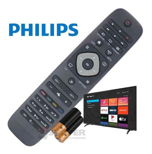 Controle Remoto Tv Philips Smart Sky 7413 Com Pilhas