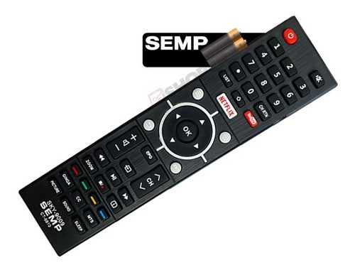 Controle Remoto Tv Semp Toshiba Sky-9009 Netflix Youtube