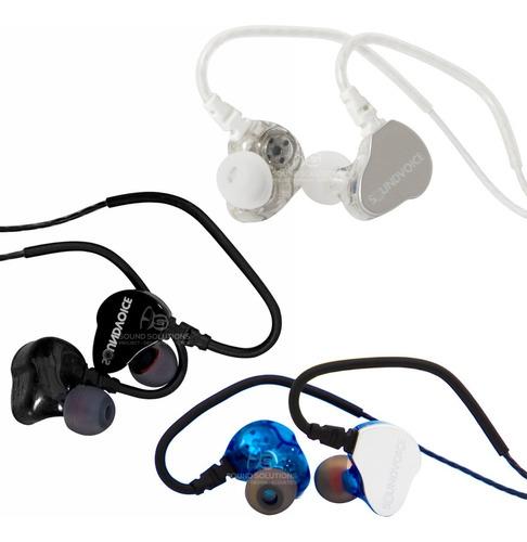 Fone Retorno De Palco In Ear Profissional Soundvoice Plug P3