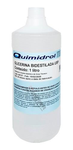 Glicerina Bidestilada Usp Insumo Químico Técnico 1 Litro