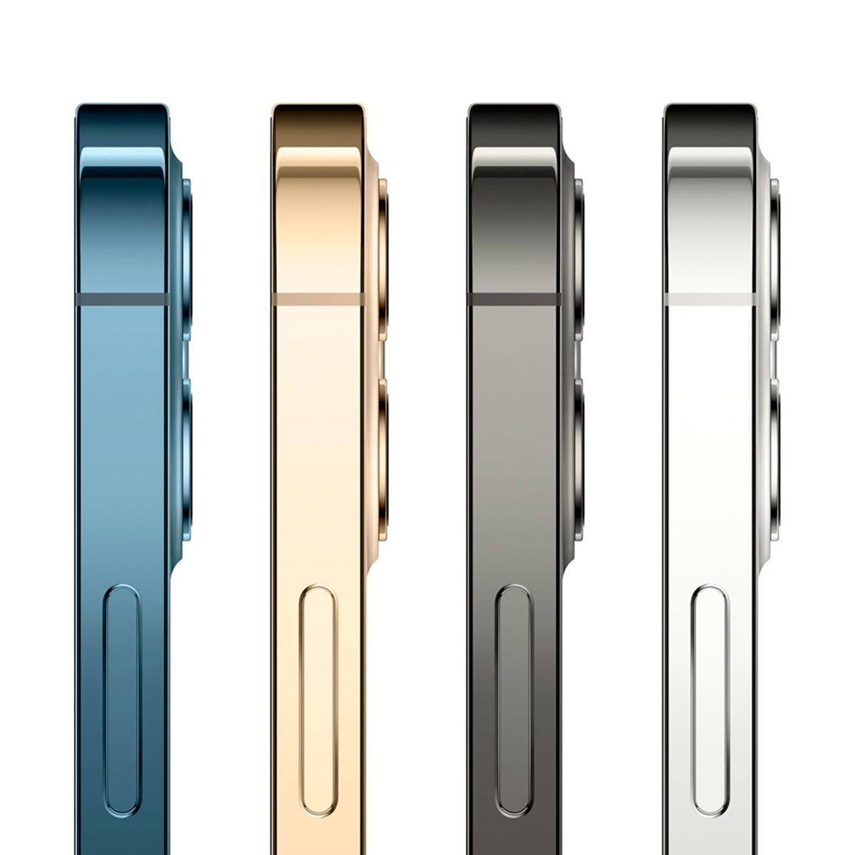 """iPhone 12 Pro Max Azul Pacífico ou Graphite com Tela de 6,7"""", 5G, 128 GB e Câmera Tripla de 12MP"""