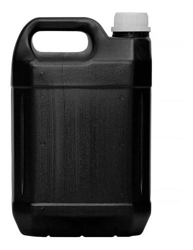 Kit 10 Frasco Galão Plastico 5l C/ Tampa Reutilizável Preto