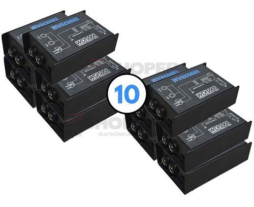 Kit 10 Peças Direct Box Wdi-600 Passivo Wireconex Metal