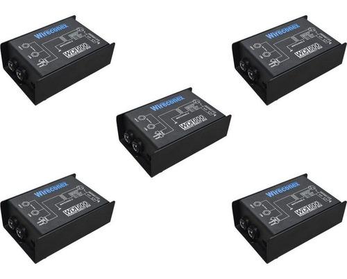 Kit 5 Direct Box Wdi600 Casador Impedância Passivo Wireconex
