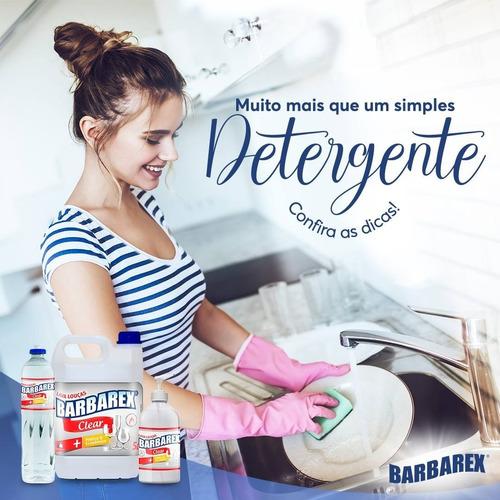 Kit 6 Unidades Detergente Lava Louça Squeeze 500ml Clear
