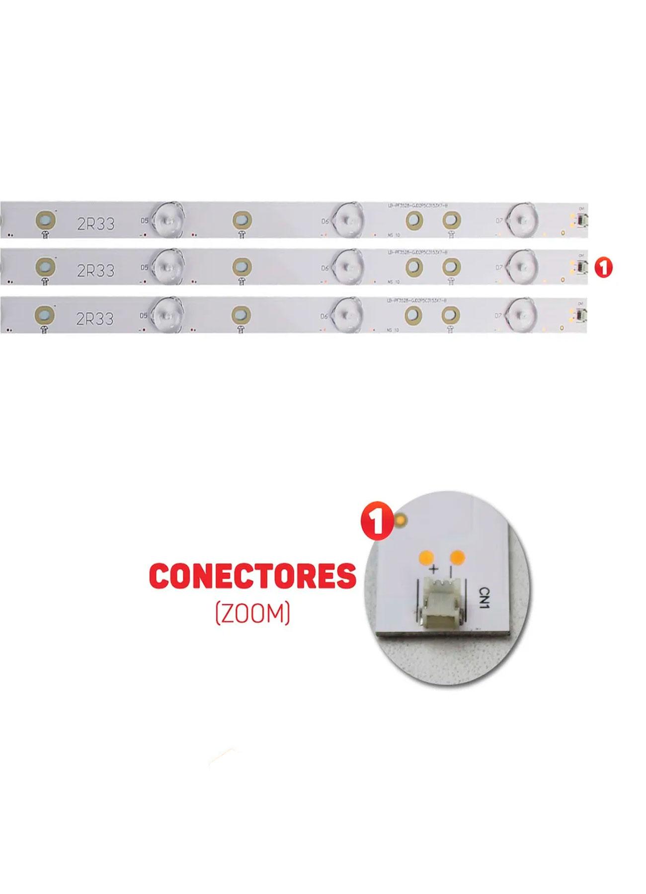 kit barra de led aoc/philips 32PHG5109 32PHG4900 32PHG5201 LE32S5760 LE32D1352 LE32H1452 LE32D1442 LE32H1461