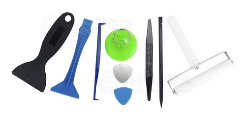 Kit P/ Reparo Display - Rolo Aplicador + Espatula + Ventosa