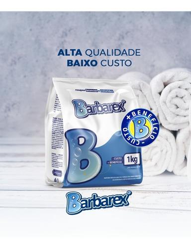 Lava Roupas Sabão Em Pó Barbarex 1kg Embalagem Economica