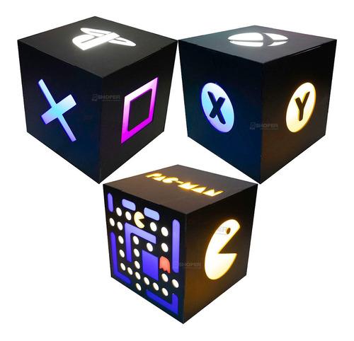 Luminária / Abajur Gamer Geek Com Tomada E Interruptor