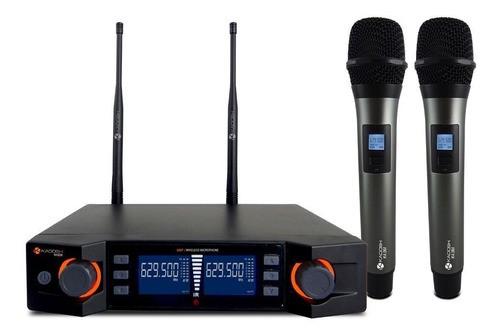 Microfone Sem Fio K492m Uhf Digital Mão Duplo Kadosh