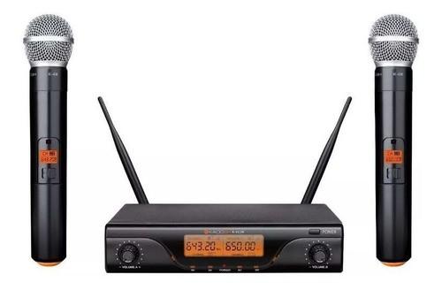 Microfone Sem Fio Kdsw412m Uhf Digital Mão Duplo Kadosh