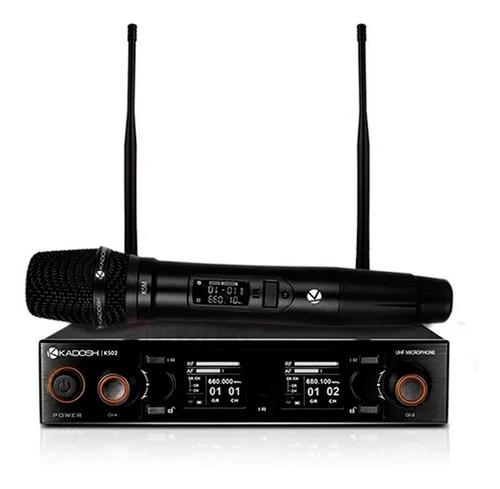 Microfones Sem Fios Kadosh K-502m Dinâmico Carga Por Usb