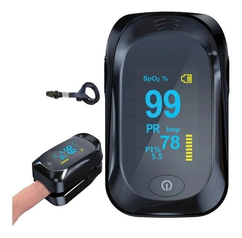 Oxímetro Digital De Dedo Medidor pulso e oxigenação Portátil
