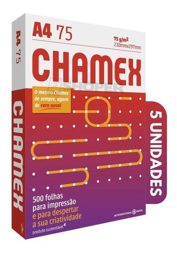 Papel Folha Sulfite Oficio A4 Chamex 2500 Folhas Office Pro