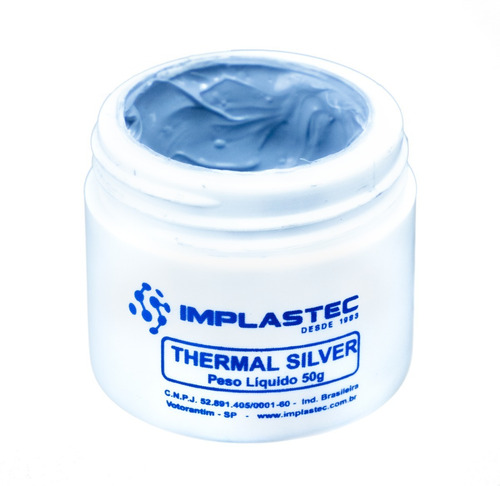 Pasta Térmica Prata Thermal Silver Implastec 50g Profissiona