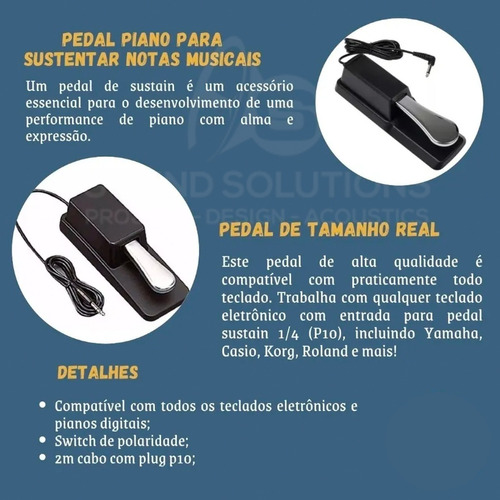 Pedal Sustain P/ Piano Teclado Smart Smps02 Rolando Korg