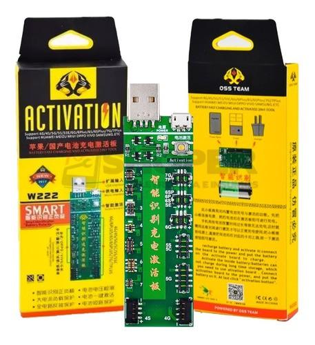 Placa De Carga Ativação Da Bateria W222 C/ Cabo Usb Oss Team