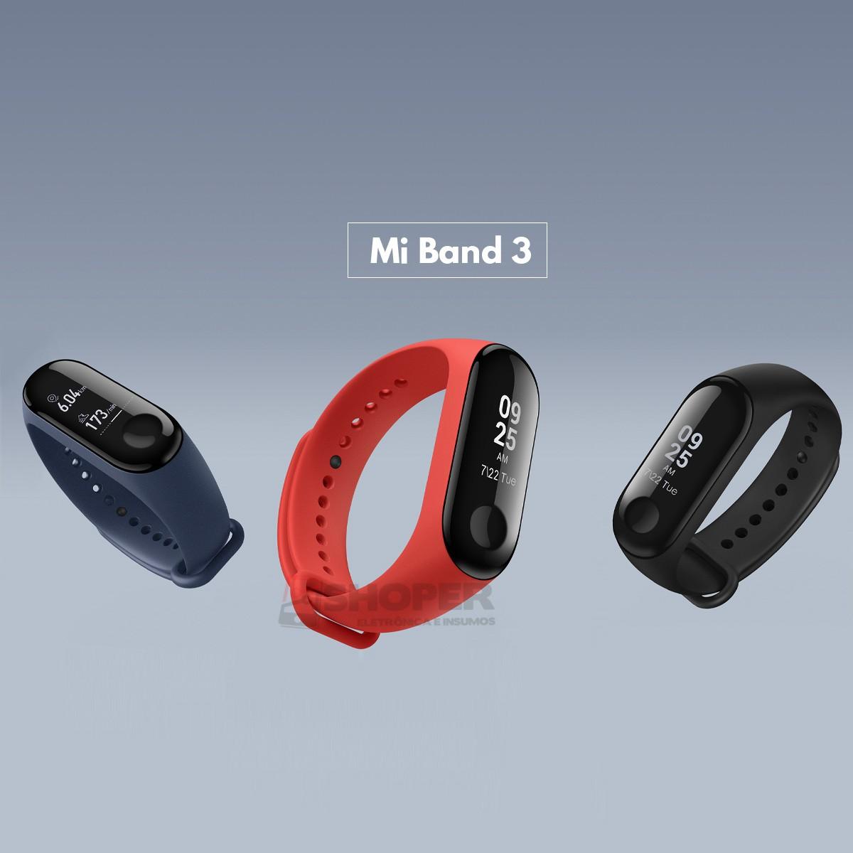 Pulseira Inteligente Mi Smart Band 3 (Mi Band 3)