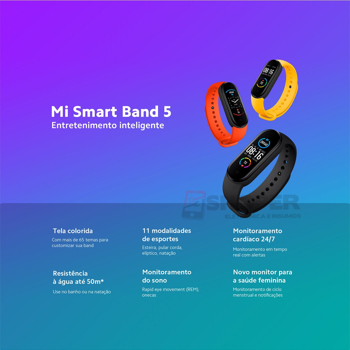 Pulseira Inteligente Mi Smart Band 5 (Mi Band 5)
