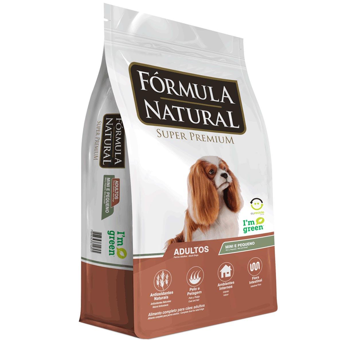 Ração Fórmula Natural para Cães Adultos de Porte Mini e Pequeno 15Kg