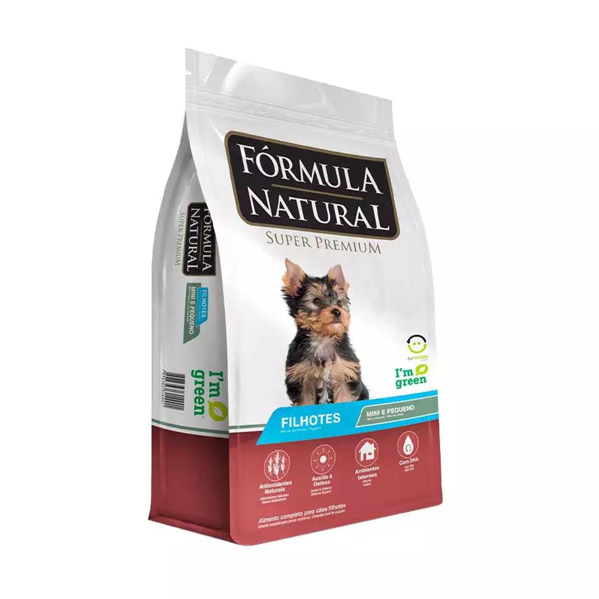 Ração Fórmula Natural para Cães Filhotes de Raças Pequenas 1Kg