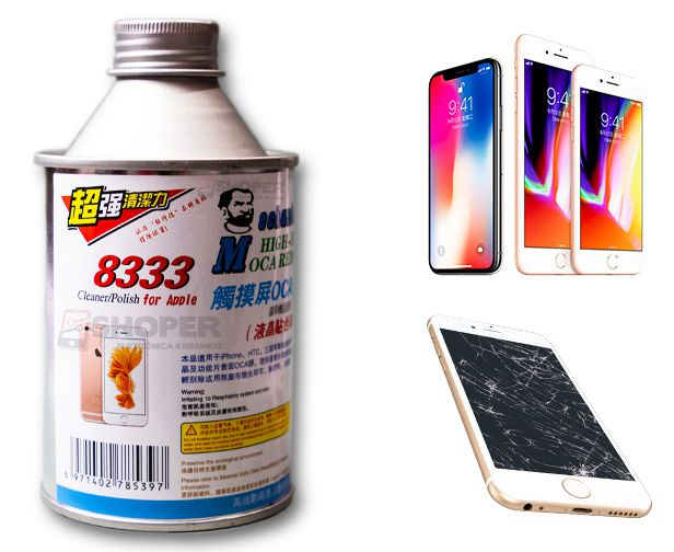 Removedor De Cola UV Resina Bga Mechanic 8333 250ml