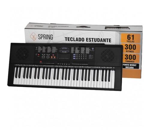 Teclado Musical Spring Tc-261 61 Teclas Preto 110v/220v