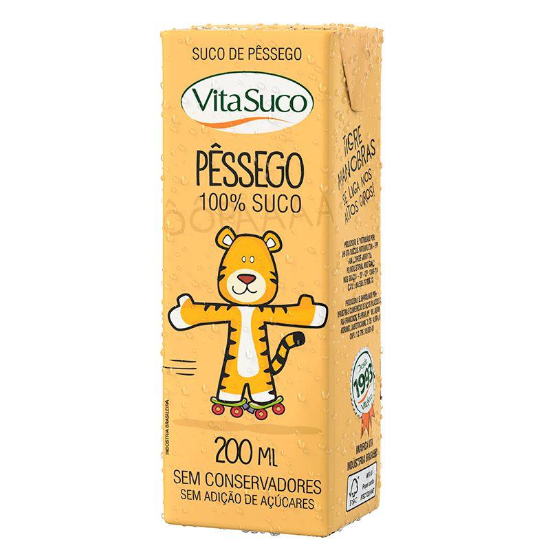 Suco Natural - 200ml (Kids) - Pêssego - Vita Suco - Cx 27un
