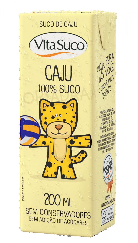 Suco Natural - Kids 200ml - Diversos Sabores - Vita Suco - Cx 18un