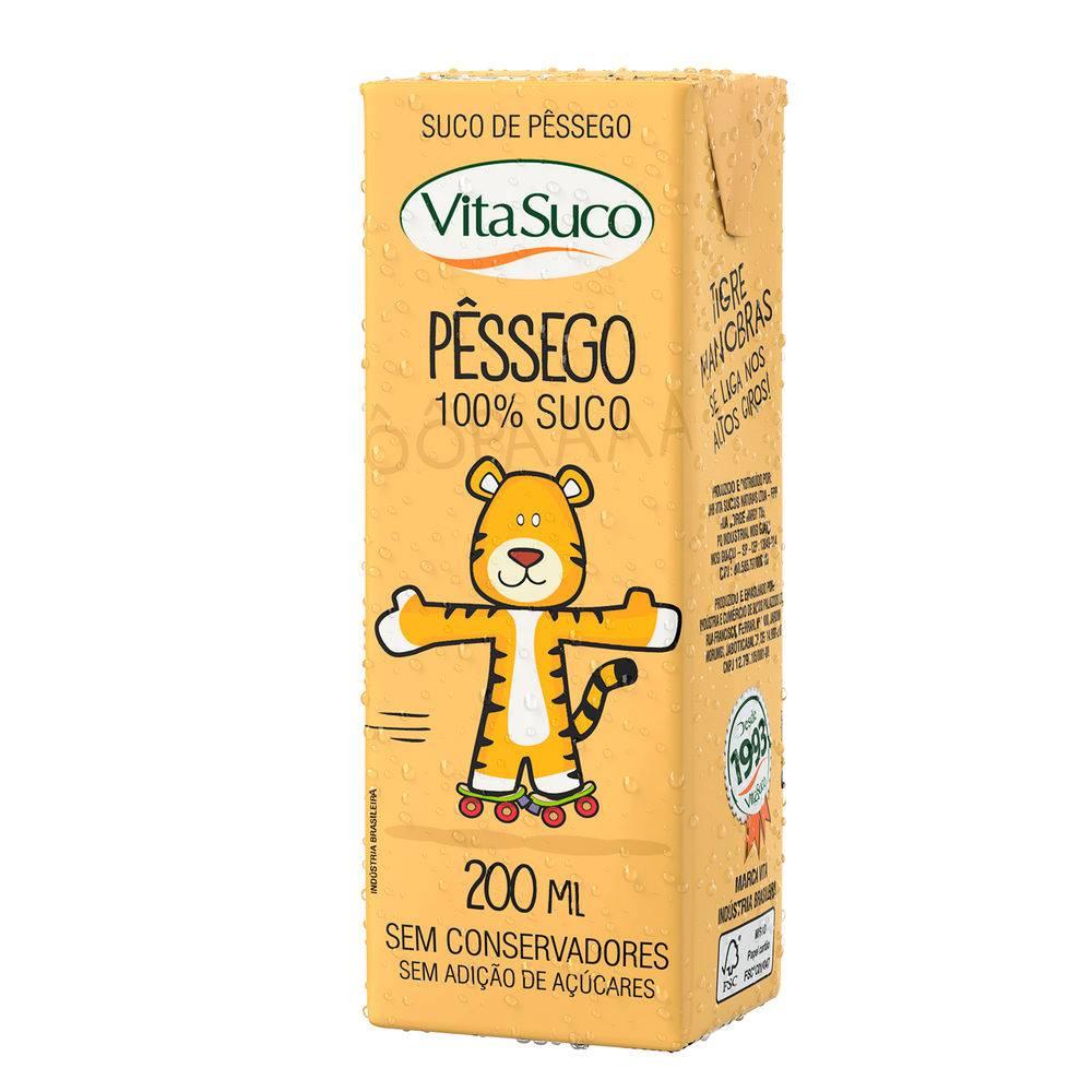 Suco Natural - 200ml (Kids) - Pêssego - Vita Suco - Cx 18un