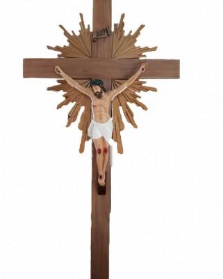 Crucifixo: 220 cm | Corpo: 110 cm (com resplendor)
