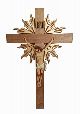 Crucifixo: 070 cm | Corpo: 038 cm (agonia com resplendor)