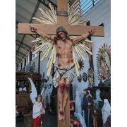 Crucifixo 320 cm - Corpo 160 - Cruz 320 cm (com resplendor e base)