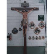 Crucifixo 400 cm - Corpo 230 Cruz 400 cm