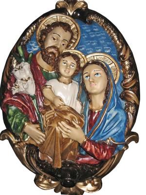 Medalhão da Sagrada Família - 40 cm