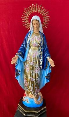 Nossa Senhora das Graças (com manto floral) - 115 cm