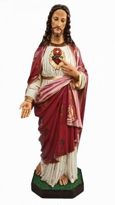 Sagrado Coração de Jesus Envelhecido - 100 cm