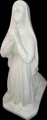 Santa Bernadete (pó de mármore) - 52 cm